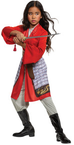 Mulan Hero Red Dress Classic Child Costume