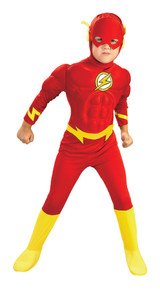 Flash Costume Muscle Deluxe Child