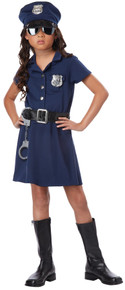 Girl's Police Officer Costume