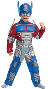Boy's Optimus EG Muscle Toddler Costume