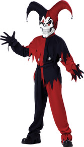 Evil Jester Costume Child