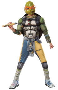 Boy's Deluxe Michelangelo Costume - Ninja Turtles