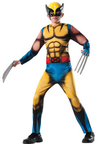 Boy's Deluxe Muscle Chest Wolverine Costume Large