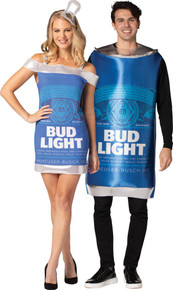 Bud Light Can Tunic & Dress Couples Costume