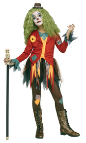 Girl's Rowdy Clown Costume Large