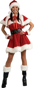 Women's Sexy Velvet Miss Santa Dress
