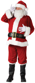 Santa Suit Complete Velour Plus Size