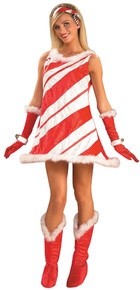 Women's Miss Candy Cane Costume