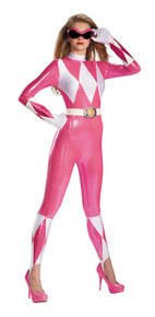 Sassy Pink Power Ranger Bodysuit - Mighty Morphin