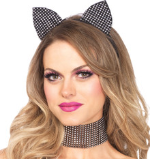 Rhinestone Cat Ears & Choker