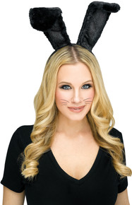 Bunny Headband Black