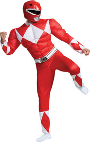Men's Red Ranger Classic Muscle Costume - Mighty Morphin