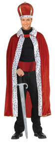 King Robe & Crown Set Adult - Red