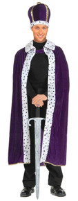 King Robe & Crown Set Adult - Purple