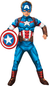 Boy's Captain America Muscle Costume- Small 4-6