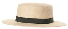 Straw Hat With Black Band - Adult