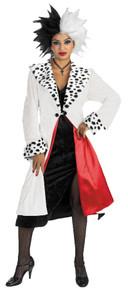 Women's Cruella De Vil Prestige Costume - 101 Dalmatians