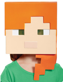 Child's Alex Vacuform Mask - Minecraft