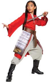 Girl's Mulan Hero Red Dress Deluxe Costume SML 4-6