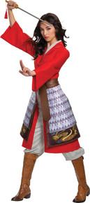 Women's Mulan Hero Red Dress Deluxe Costume
