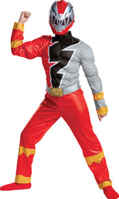 Boy's Red Ranger Dino Fury Muscle