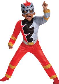 Boy's Red Ranger Dino Fury