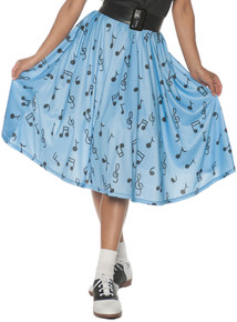 50s Musical Note Skirt - Adult