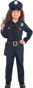 Girls' classic Police Officer Costume- Small 4-6