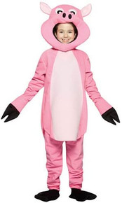 Pink Pig Mascot Padded Kids Costume size 4-6X