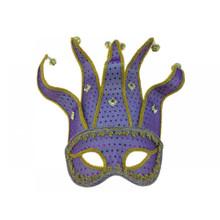 Venetian half face Jester Mask-Purple