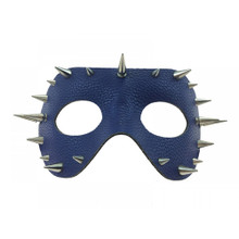 Leather Spike Studs Mask Blue