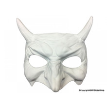 Goblin half face mask WHITE