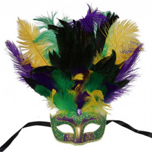 Masquerade PGG mask with feather
