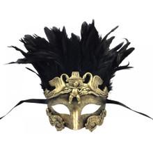 Roman venetian eye mask with Feather