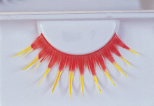Eyelashes Red With Yellow