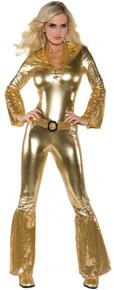 Women's Hot Pants Jumpsuit - Gold