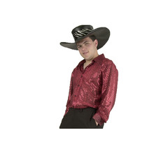 Mac Daddy Sequin Shirt Red