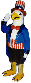 Uncle Sam Eagle Mascot