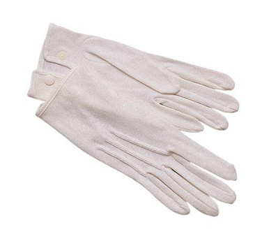 GLOVES SNAP-ON WHITE