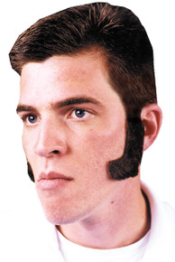 Side Burns Human Hair Black