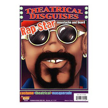 RAP STAR MOUSTACHE & BEARD SET