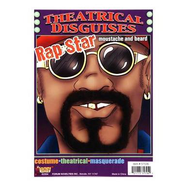 RAP STAR MOUSTACHE & BEARD SET