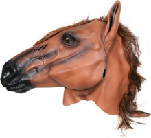 Brown Horse Mask W/ Mane
