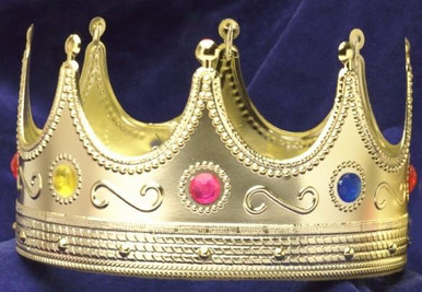 KING CROWN GOLD PLASTIC