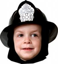 FIRE FIGHTER BLACK HELMET CHILD