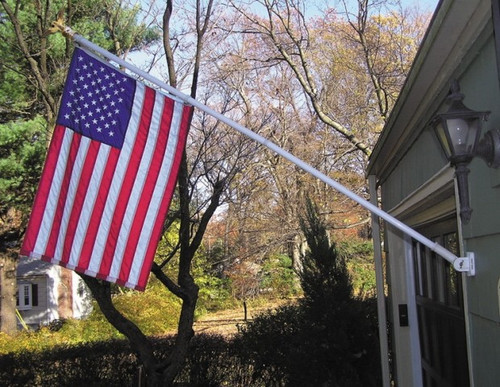 American Flag Set with 6' Spinning Flagpole Residential