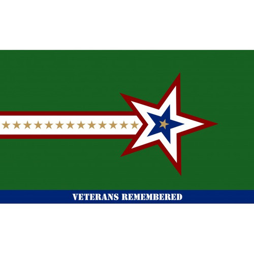 Veterans Remembered Flag - 3' x 5'