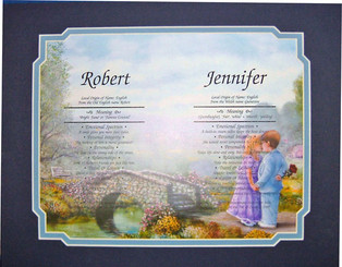 First Name Certificate 2 Names (Matted)