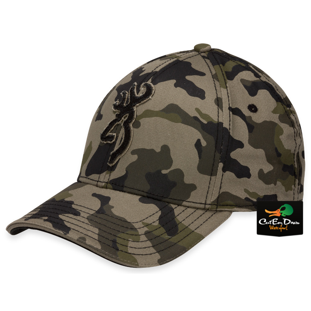 Details about NEW BROWNING STALKER CAMO FLEX FIT HAT FITTED BALL CAP  BUCKMARK LOGO L XL acb5e2ed0f9
