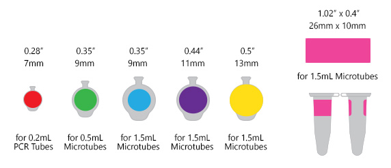 LABTAG® CRYOGENIC COLOR DOTS AND RECTANGLES